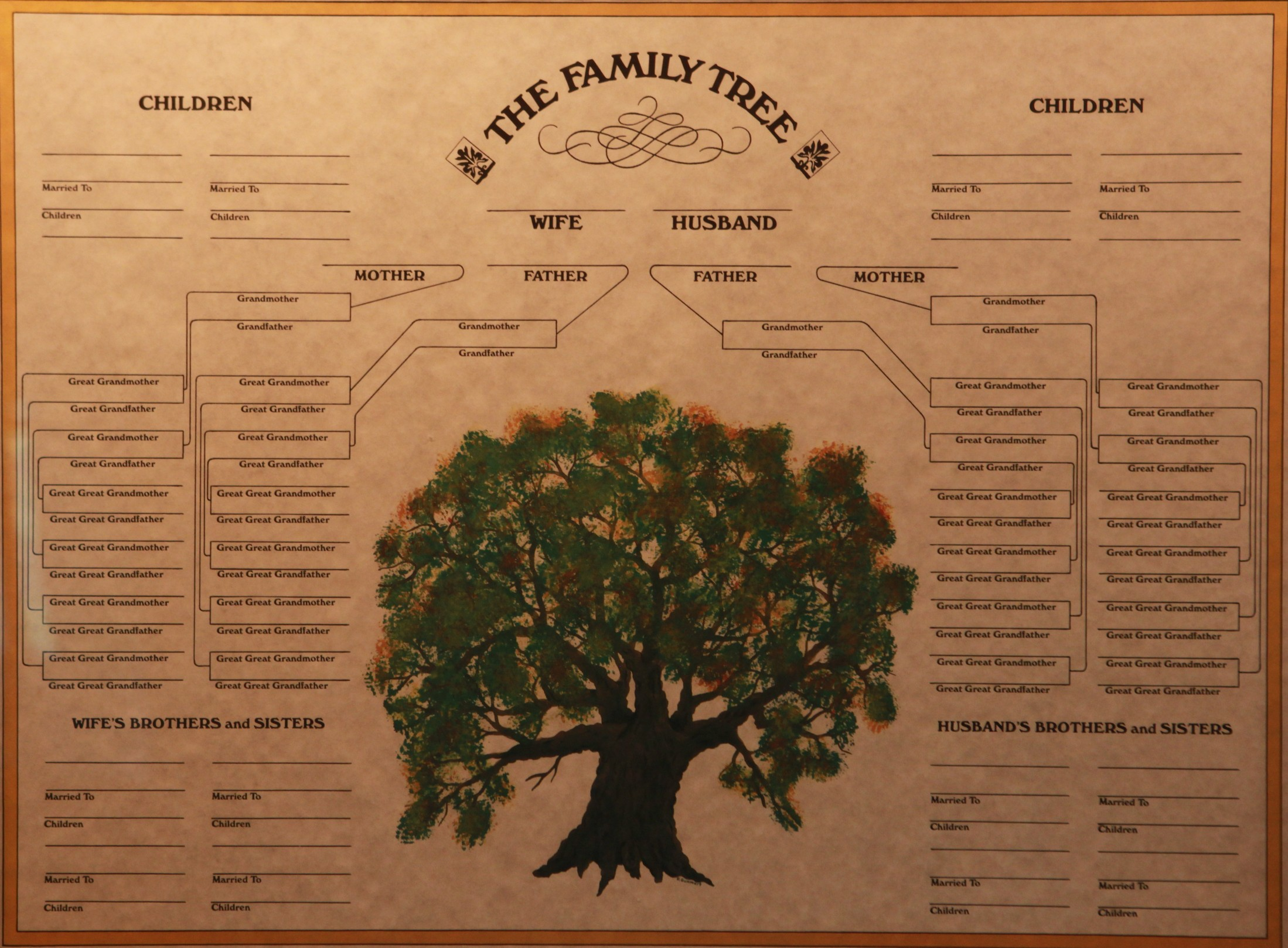 Family tree poster board